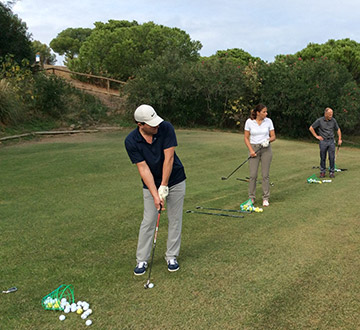 groepsles golf